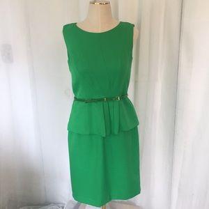 Ellen Tracy green interview dress.